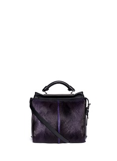 3.1 PHILLIP LIM 'Ryder' small fur front leather satchel