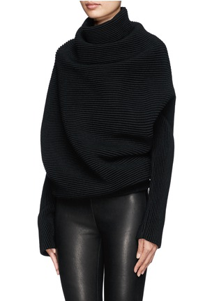Front View - Click To Enlarge - Acne Studios - 'Galactic' oversize chunky knit turtleneck sweater