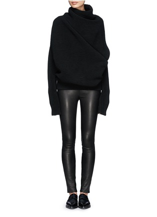 Figure View - Click To Enlarge - Acne Studios - 'Galactic' oversize chunky knit turtleneck sweater