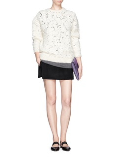 MS MINStructured layer wool-cashmere shorts