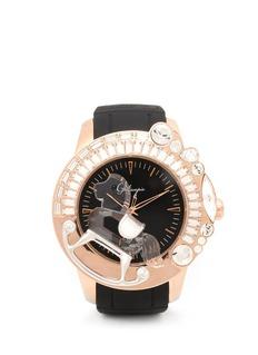 GALTISCOPIO'La Giostra I' rocking horse crystal watch