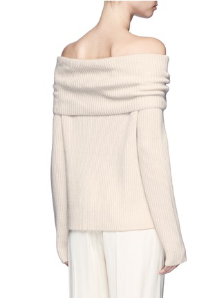 Back View - Click To Enlarge - The Row - Agneta' cashmere off-shoulder sweater