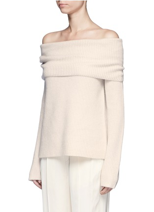 Front View - Click To Enlarge - The Row - Agneta' cashmere off-shoulder sweater