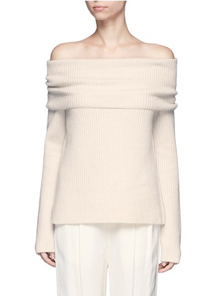 Main View - Click To Enlarge - The Row - Agneta' cashmere off-shoulder sweater