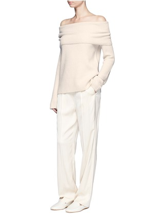 Figure View - Click To Enlarge - The Row - Agneta' cashmere off-shoulder sweater