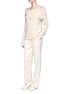 The RowAgneta' cashmere off-shoulder sweater