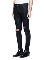 'Thrasher' waxed ripped slim fit jeans