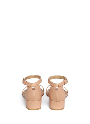 Back View - Click To Enlarge - Stuart Weitzman - 'Nudist June' leather sandals