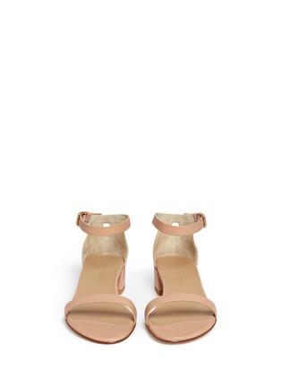 Front View - Click To Enlarge - Stuart Weitzman - 'Nudist June' leather sandals