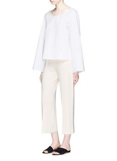 The Row 'Maria' cropped silk blend knit pants