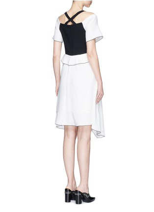 Back View - Click To Enlarge - Proenza Schouler - Ruffle off-shoulder bonded crepe dress