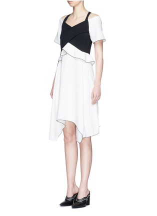 Front View - Click To Enlarge - Proenza Schouler - Ruffle off-shoulder bonded crepe dress
