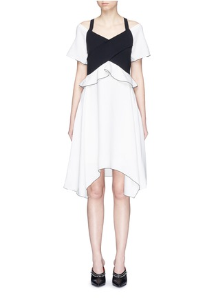 Main View - Click To Enlarge - Proenza Schouler - Ruffle off-shoulder bonded crepe dress