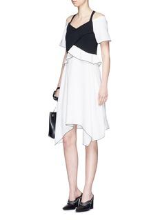 Proenza SchoulerRuffle off-shoulder bonded crepe dress