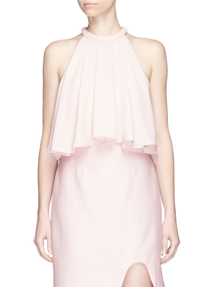 Vivid Lights pleated crepe top by C/Meo Collective
