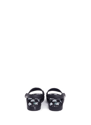 Back View - Click To Enlarge - Melissa - x Fábula 'Mia' cat face appliqué PVC toddler sandals