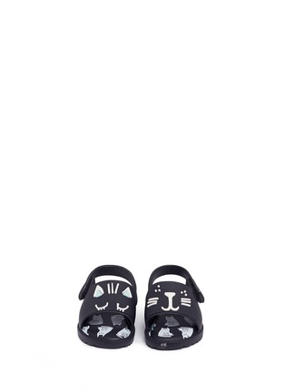 Figure View - Click To Enlarge - Melissa - x Fábula 'Mia' cat face appliqué PVC toddler sandals