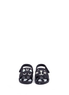 Melissa x Fábula 'Mia' cat face appliqué PVC toddler sandals