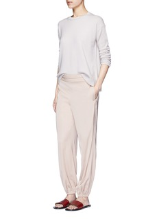 Elizabeth and James'Pascal' folded pleat waist elastic cuff pants