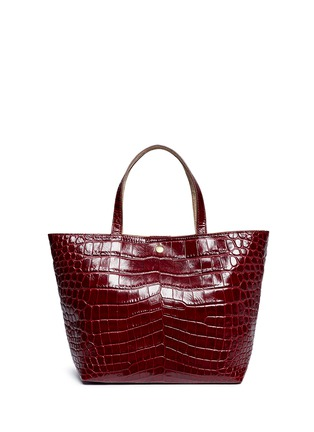 Detail View - Click To Enlarge - Elizabeth and James - 'Eloise' croc embossed leather tote