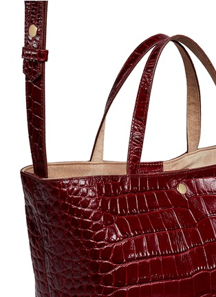 - Elizabeth and James - 'Eloise' croc embossed leather tote