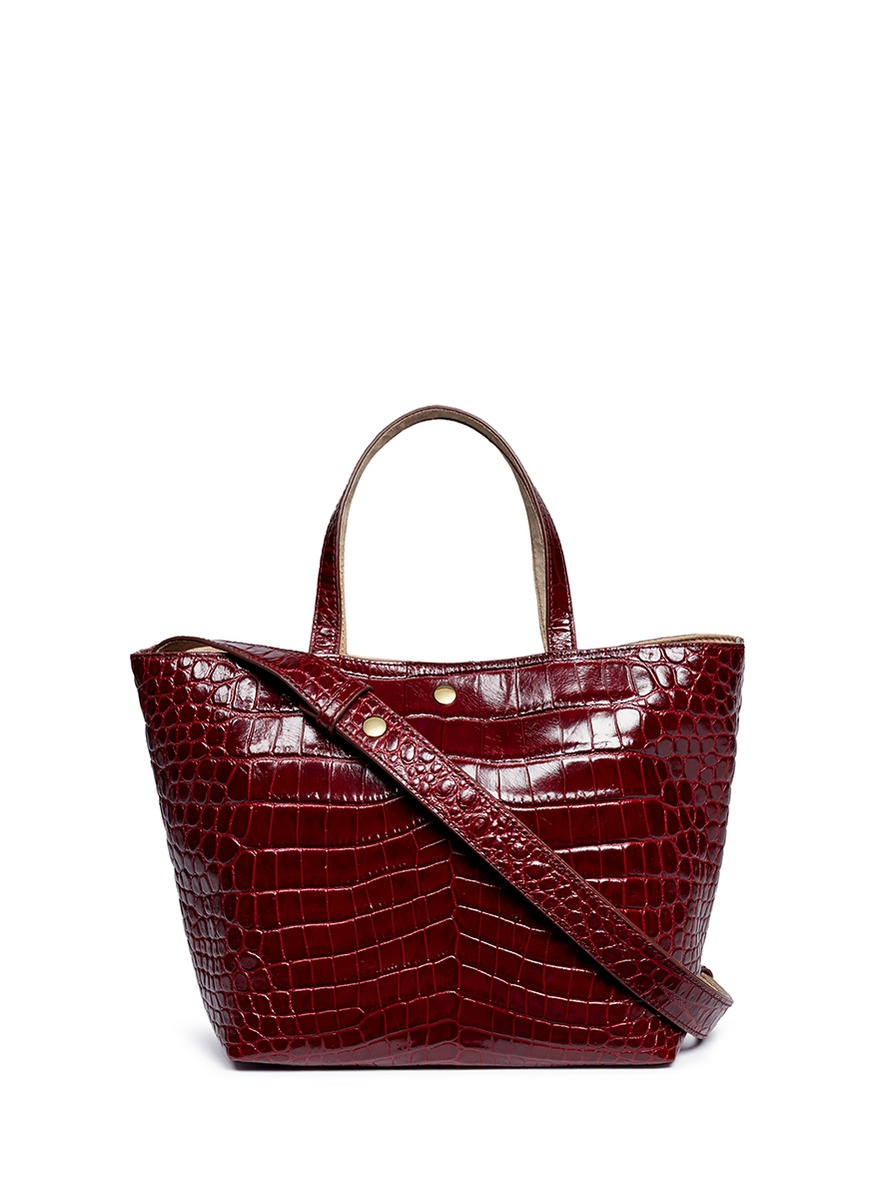 Eloise croc embossed leather tote by Elizabeth and James