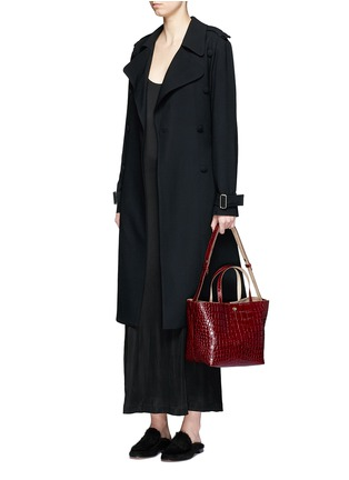 Figure View - Click To Enlarge - Elizabeth and James - 'Eloise' croc embossed leather tote