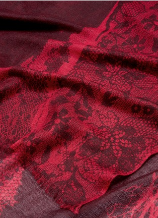 Detail View - Click To Enlarge - PASHMA - Floral dot print cashmere-silk scarf