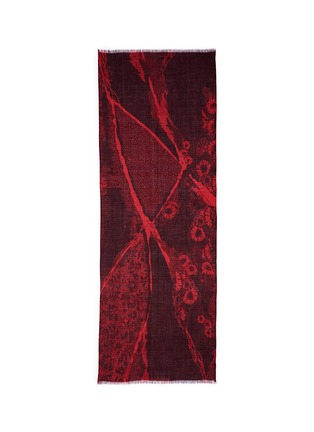 Main View - Click To Enlarge - PASHMA - Floral dot print cashmere-silk scarf