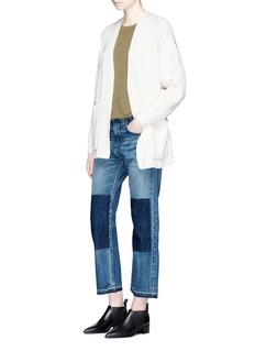 rag & bone/JEAN'Marilyn' letout cuff patch cropped jeans