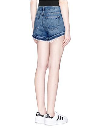 Back View - Click To Enlarge - rag & bone/JEAN - Released hem denim shorts