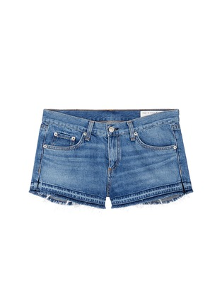 Main View - Click To Enlarge - rag & bone/JEAN - Released hem denim shorts