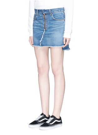 Front View - Click To Enlarge - rag & bone/JEAN - O Ring' denim skirt