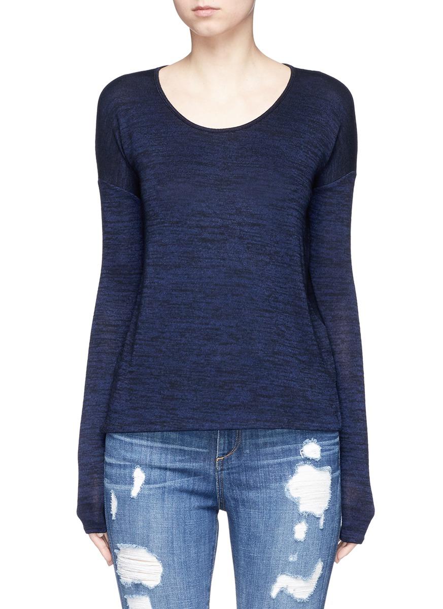Mia drape open back jersey top by rag & bone/JEAN
