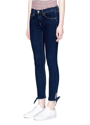 Front View - Click To Enlarge - rag & bone/JEAN - 'Stevie' tie cuff cropped skinny jeans