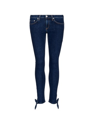 Main View - Click To Enlarge - rag & bone/JEAN - 'Stevie' tie cuff cropped skinny jeans