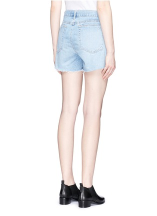 Back View - Click To Enlarge - rag & bone/JEAN - 'Boyfriend' distressed denim shorts