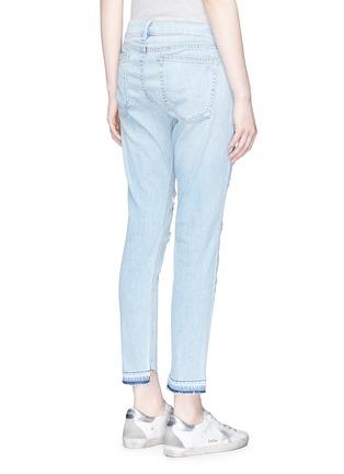 Back View - Click To Enlarge - rag & bone/JEAN - 'Dre Capri' distressed cropped skinny jeans