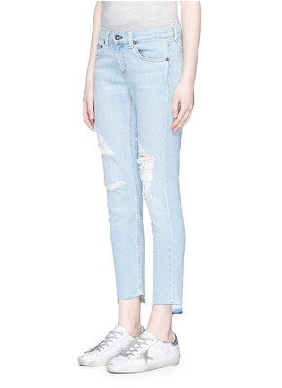 Front View - Click To Enlarge - rag & bone/JEAN - 'Dre Capri' distressed cropped skinny jeans