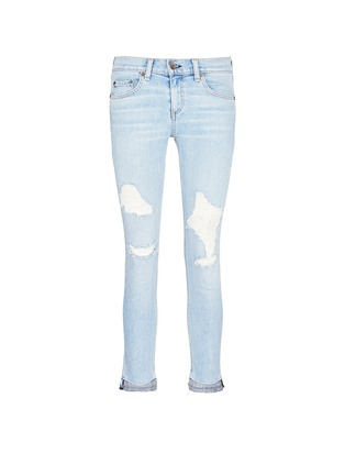 Main View - Click To Enlarge - rag & bone/JEAN - 'Dre Capri' distressed cropped skinny jeans