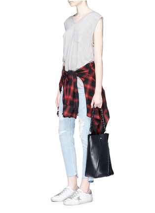 Figure View - Click To Enlarge - rag & bone/JEAN - 'Dre Capri' distressed cropped skinny jeans
