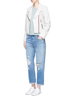 rag & bone/JEAN'Repair' cutout pocket Pima cotton T-shirt