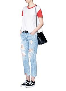 rag & bone/JEANColourblock Pima cotton T-shirt