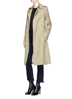 Helmut Lang Belted twill trench coat