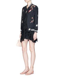 alice + olivia'Lavinia' ruffle crépon mini dress