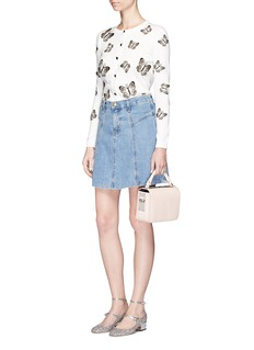 alice + olivia'Ruthy' butterfly embroidered cardigan