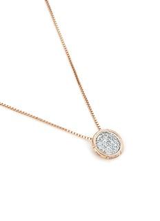 John Hardy Diamond 18k yellow gold small pendant necklace