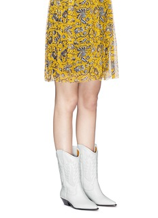 Isabel Marant Étoile 'Dallin' embroidered leather cowboy boots
