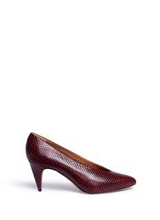 ISABEL MARANT ÉTOILEPEAS波点蛇纹小牛皮高跟鞋