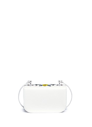 Detail View - Click To Enlarge - Alexander McQueen - 'Insigna' floral embellished leather satchel